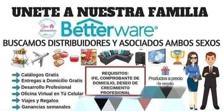 Betterware Compra Venta y Distribución