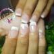 Uñas punta Blanca